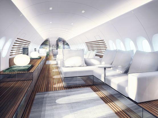 SkyRetreat - More space for your travels - Our designers envisioned a totally new and unconventional design approach for the Airbus A 220.