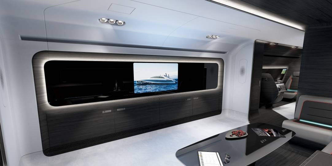 The Mercedes Benz AMG design for a VIP cabin