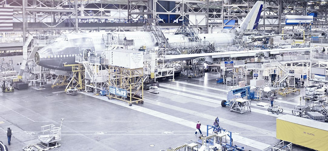 747-8 production inspection - We ensure the quality of your flying assets right from the start.