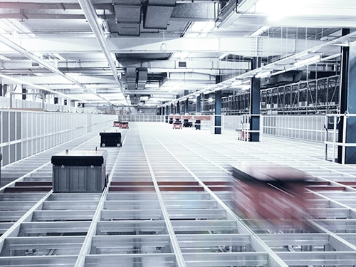 Warehouse at Lufthansa Technik Logistik Services