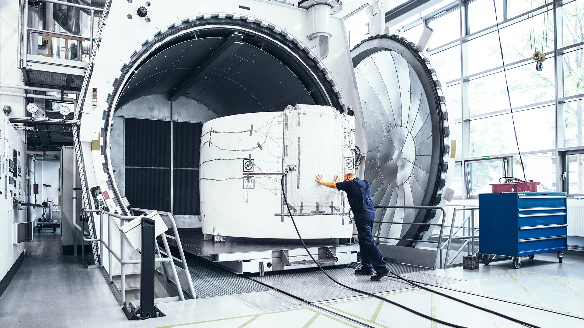 Our autoclave in Hamburg is one of the biggest in the world.