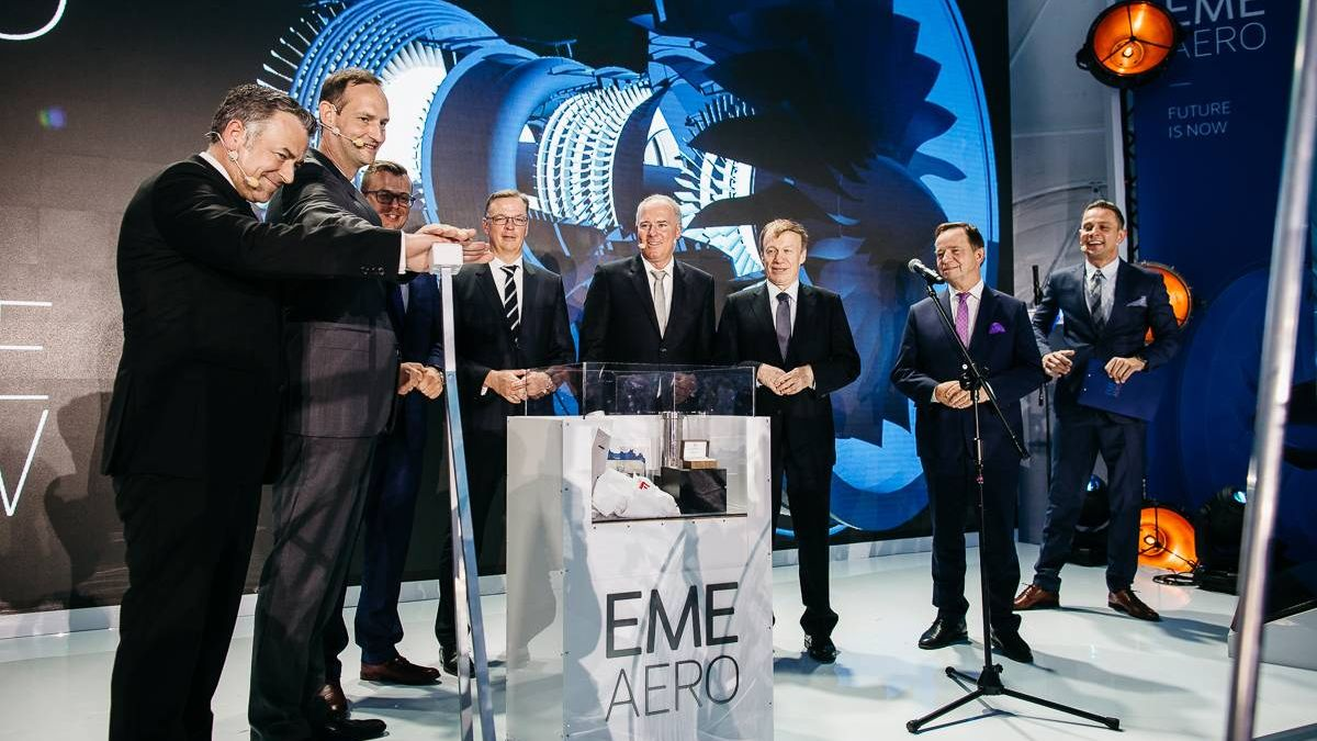 The ingredients of the cornerstone for EME Aero are laid