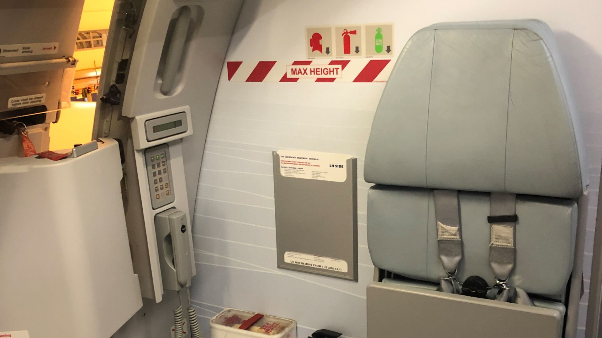 For the temporary cargo transport in the cabin safety procedures have to be adapted