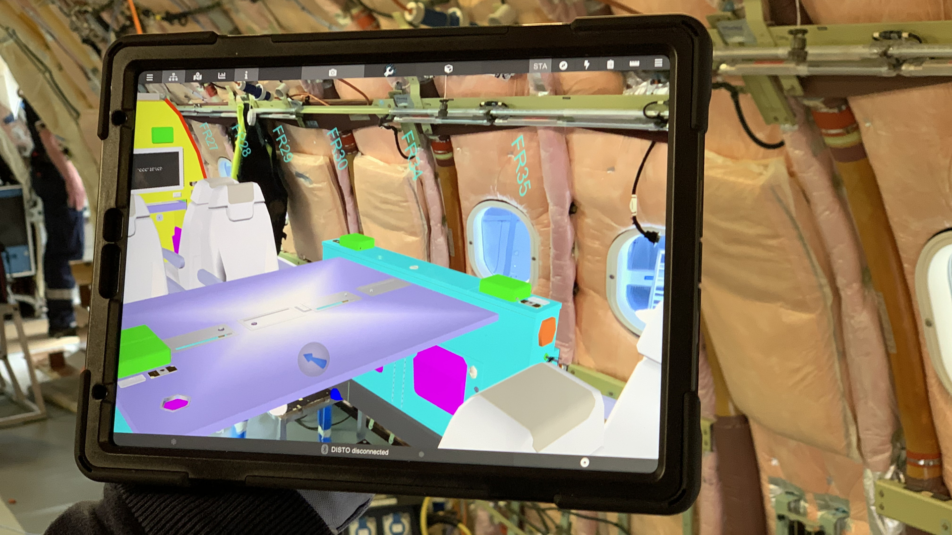 Augmented reality thanks to seemless 5G in the aircraft