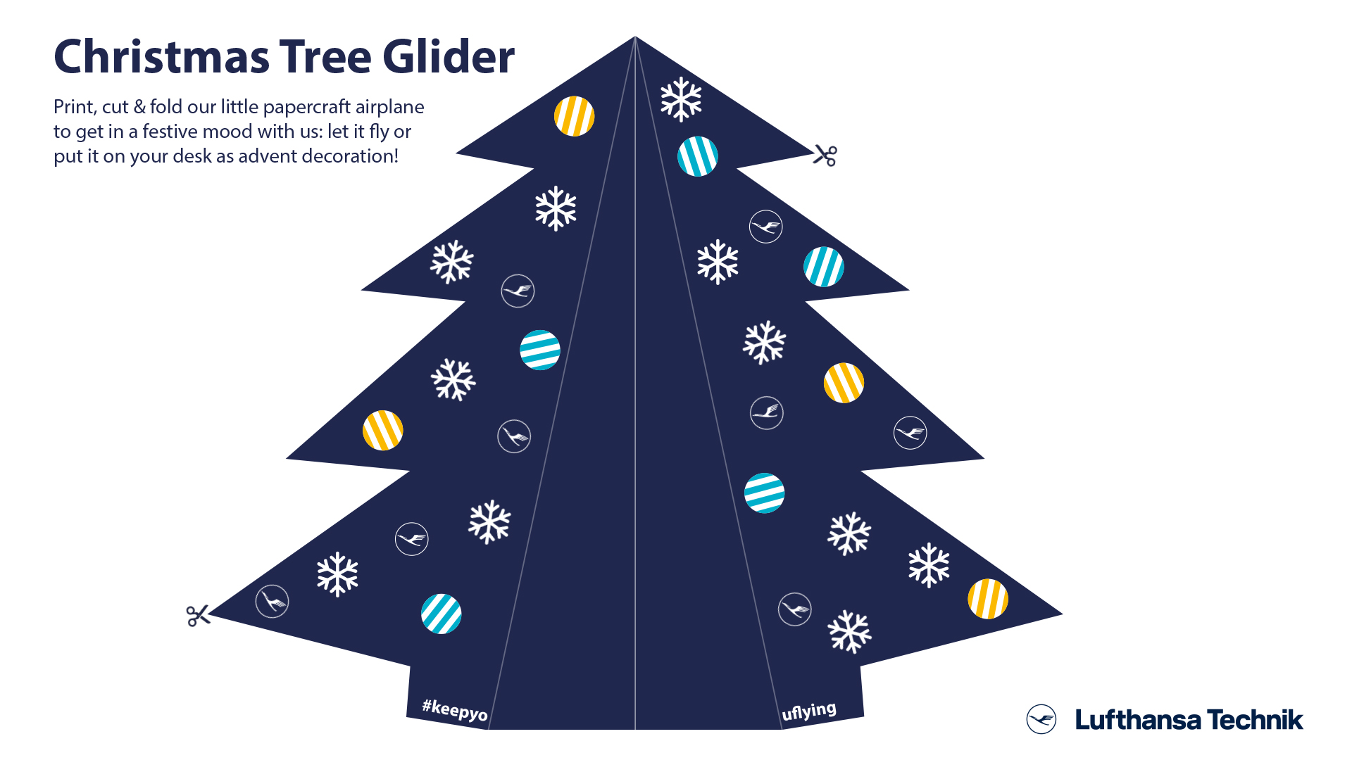 Build your Christmas Tree Glider with Lufthansa Technik