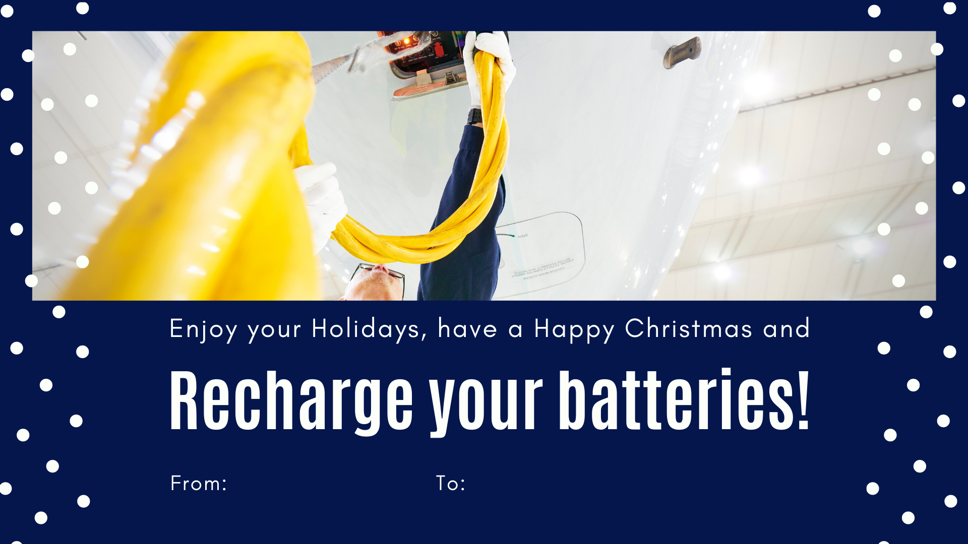 Enjoy your holidays and recharge your batteries!