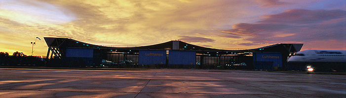 Legal Terms Aircraft Hangar Airport Sunset Night
